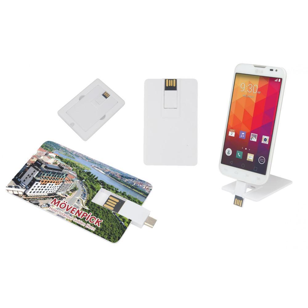 Promosyon OTG Özellikli Kartvizit USB Bellek