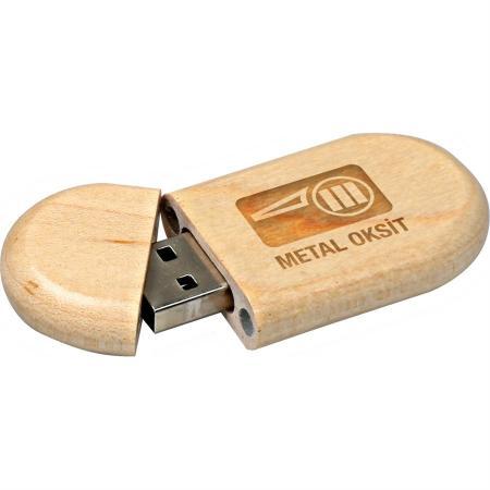 Promosyon Ahşap Kutulu USB Bellek-8/16/32