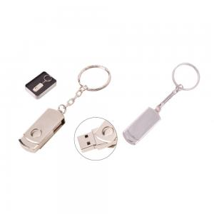 Promosyon Döner Kapaklı Metal Anahtarlık USB Bellek