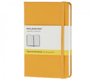 Promosyon Notebook Pocket Squared Orange Yellow Hard