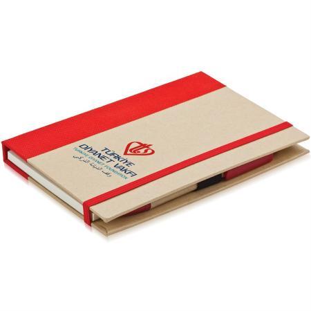 Promosyon Renkli Yapışkanlı Notluk kırmızı