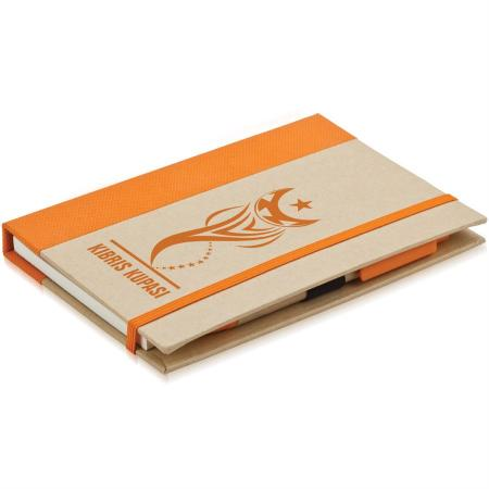 Promosyon Renkli Yapışkanlı Notluk turuncu