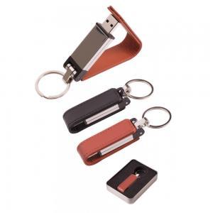 Promosyon Deri Metal Anahtarlık USB Bellek